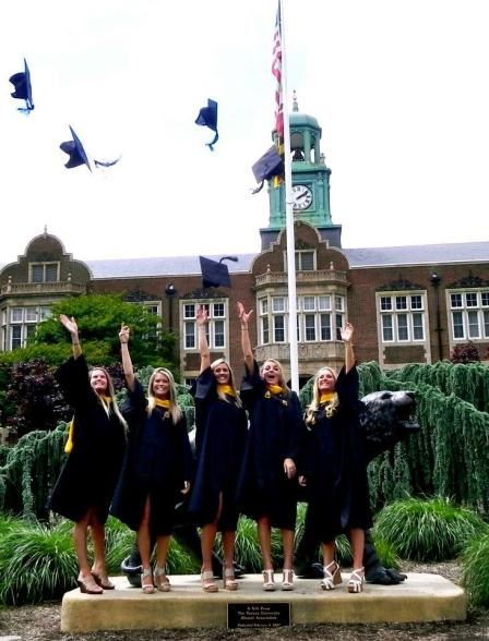 my best friends at graduation. towson university class of 2012.