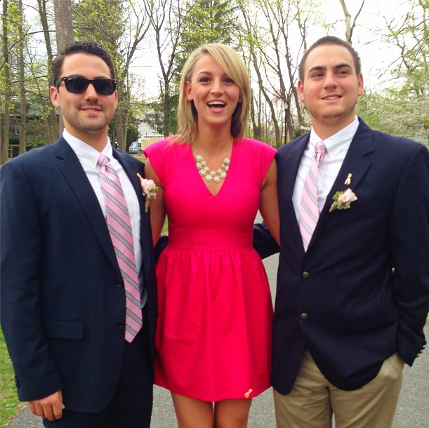 me and my brothers at my aunts wedding!